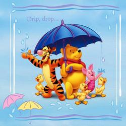 Пазл онлайн: Под зонтиком