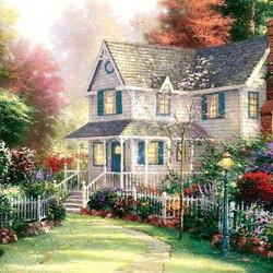 Пазл онлайн: Викторианский сад