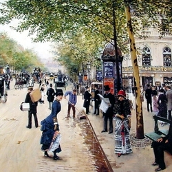 Пазл онлайн: Бульвар Капуцинок