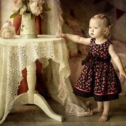 Пазл онлайн: Девчушка