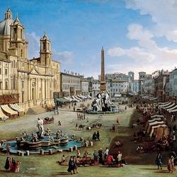 Пазл онлайн: Новая площадь в Риме