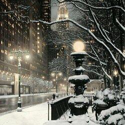 Пазл онлайн: Городские огни Нью-Йорка