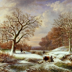 Пазл онлайн: Зимний ландшафт