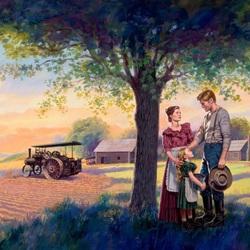 Пазл онлайн:  Семья на ферме