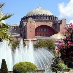 Пазл онлайн: Голубая мечеть в Стамбуле