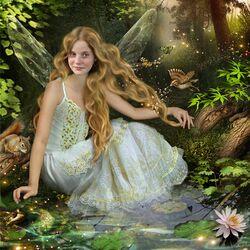 Пазл онлайн: Златовласая фея