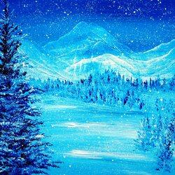 Пазл онлайн: Голубая зима