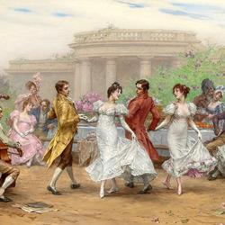 Пазл онлайн: Гуляние с танцами