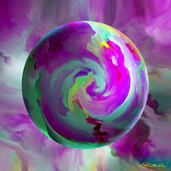 Пазл онлайн: Круговорот красок
