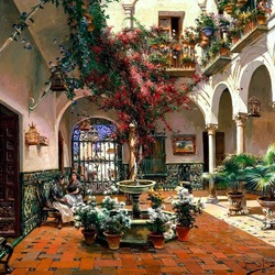 Пазл онлайн: Севилья. Внутренний двор