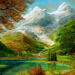 Пазл онлайн: Седые вершины