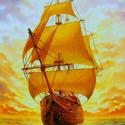 Пазл онлайн: Золотые паруса