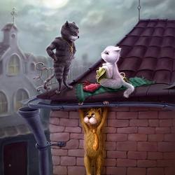 Пазл онлайн: Мартовские коты