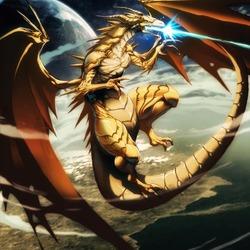 Пазл онлайн: Золотой дракон