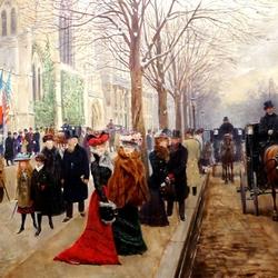 Пазл онлайн: Парижская улица