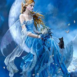 Пазл онлайн: Лунная красавица
