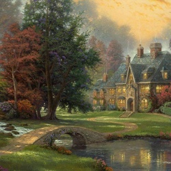 Пазл онлайн: Дом Осени