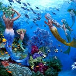 Пазл онлайн: Сёстры моря