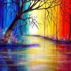 Пазл онлайн: Радужная река