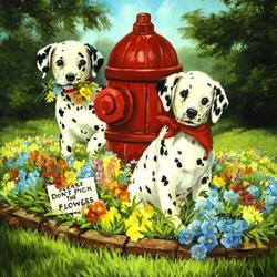Пазл онлайн: Лапочки-щеночки