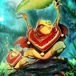 Пазл онлайн: Песня лягушек