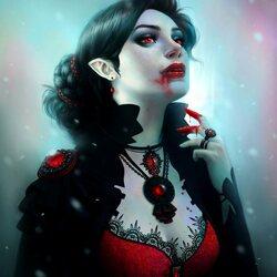 Пазл онлайн: Вампир
