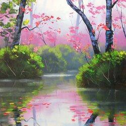 Пазл онлайн: Таинственная река