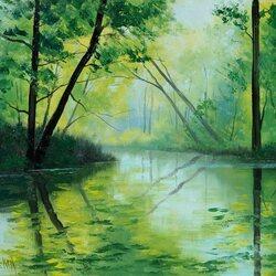 Пазл онлайн: Зелёный лес