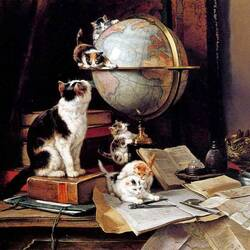 Пазл онлайн: Котята-путешественники