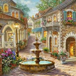 Пазл онлайн: Сказочный дворик