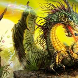 Пазл онлайн: Алиса и драконозавр