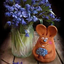Пазл онлайн: Весенний заяц