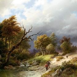 Пазл онлайн: Перед грозой
