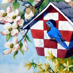 Пазл онлайн: Приветствие весны