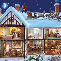 Пазл онлайн: Ночь перед Рождеством