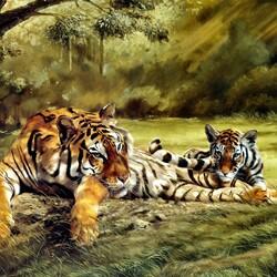 Пазл онлайн: Глаза тигра