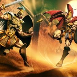 Пазл онлайн: Гектор против Ахила