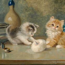 Пазл онлайн: Забавные котята
