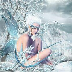 Пазл онлайн: Снежная фея