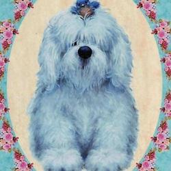Пазл онлайн: Голубой щенок