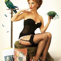 Пазл онлайн: Жанна Фриске в стиле Pin Up