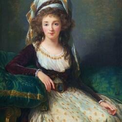 Пазл онлайн: Мадам де Агессё де Френ