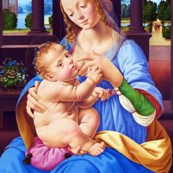 Пазл онлайн: The Virgin and Child