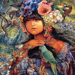 Пазл онлайн: Princess of the Amazon