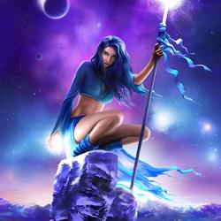 Пазл онлайн: Синяя звезда