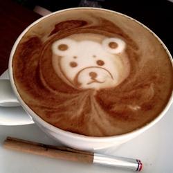 Пазл онлайн: Узоры на кофе