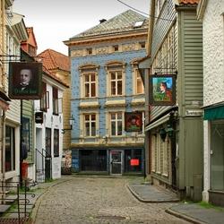 Пазл онлайн: Улицы Бергена