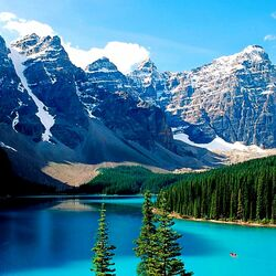 Пазл онлайн: Ледниковое озеро Морейн