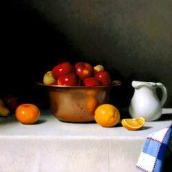 Пазл онлайн: Чашка с яблоками