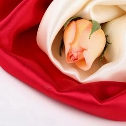 Пазл онлайн: Роза и шелк